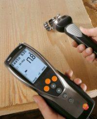 Многофункциональный гигрометр Testo 635-2 и бесконтактный влагомер для древесины