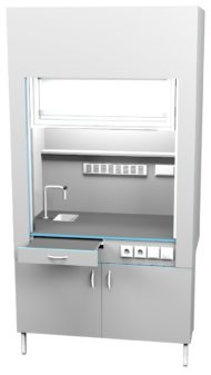 Шкаф вытяжной с сантехникой ШВ НВК 1200 ПЛАСТ+ (1200x716x2200)