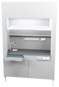 Шкаф вытяжной с сантехникой ШВ НВК 1500 ПЛАСТ+ (1500x716x2200)