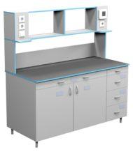 Стол пристенный для работы стоя СЛП НВК 1500 ПП (1500x700x1650)