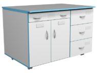 Модуль подкатной ТДЯ НВК 1200 для титровального стола НВК 1200 (1090x600x700)