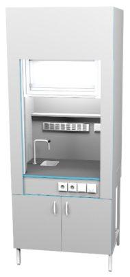 Шкаф вытяжной с сантехникой ШВ НВК 900 КГ+ (900x716x2200)