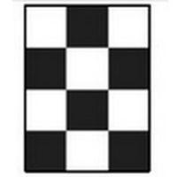 Шахматная доска для определения укрывистости 90х120 мм 10 шт